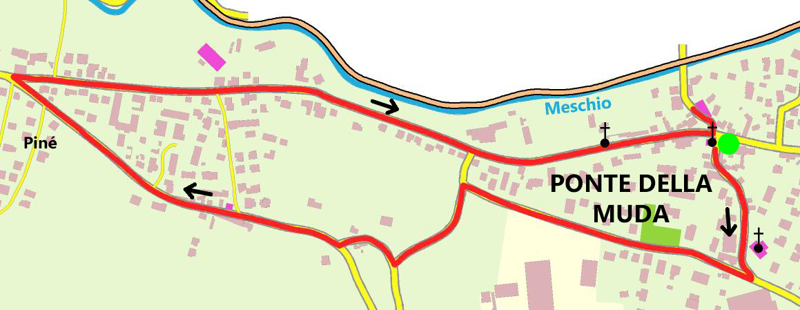 Mappa percorso culturale Ponte della Muda_hai pagato il dazio